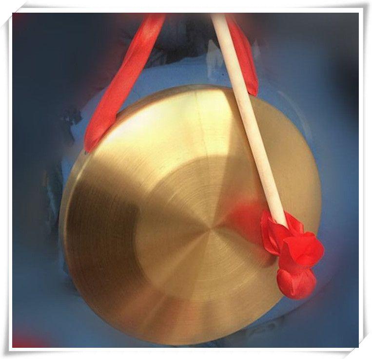 Gong basso di 42cm con gonfalisti di martello gonfalons Strumenti musicali tradizionali cinesi