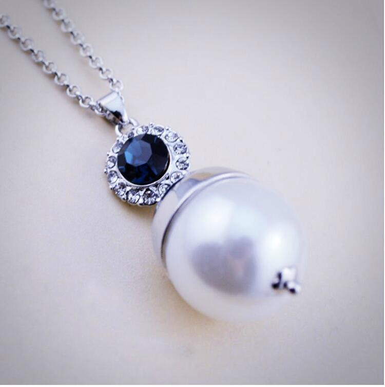 Zircon Necklace Earrings Jewelry Set Fashion Pearl Jewelry 2016 Newest High Qulity Factory Wholesales Jewelry 2016069