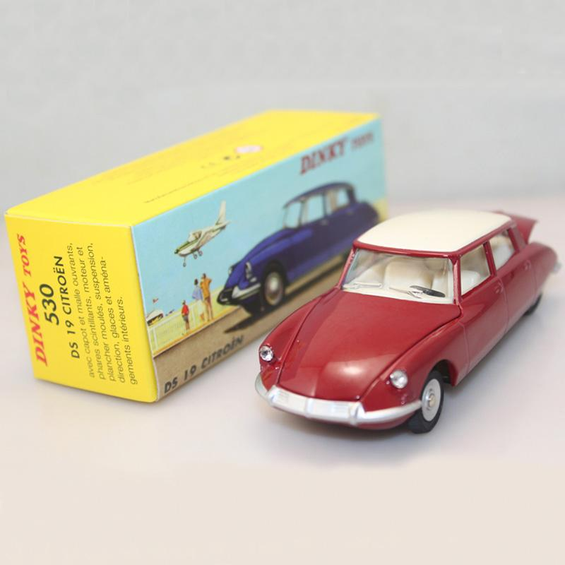 2018 1/43 Atlas Dinky Toys 530 Citroen Ds 19 Red Opening Hood ...
