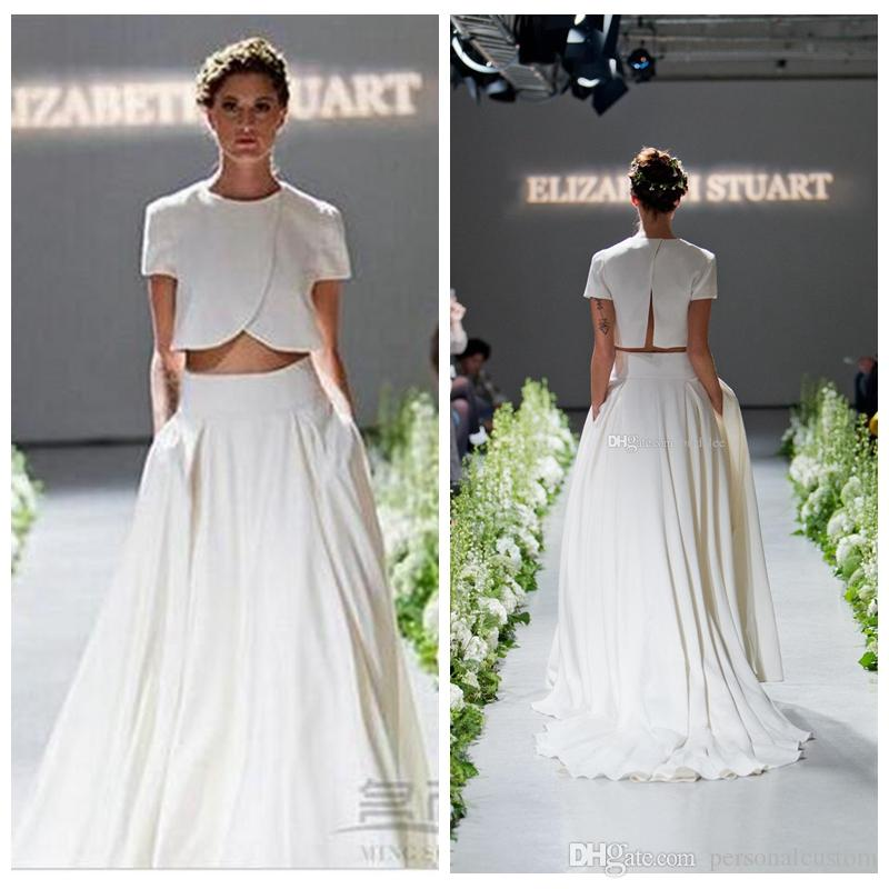 Discount 2017 New Fashion Style Two Piece Wedding Dresses Runway A ...