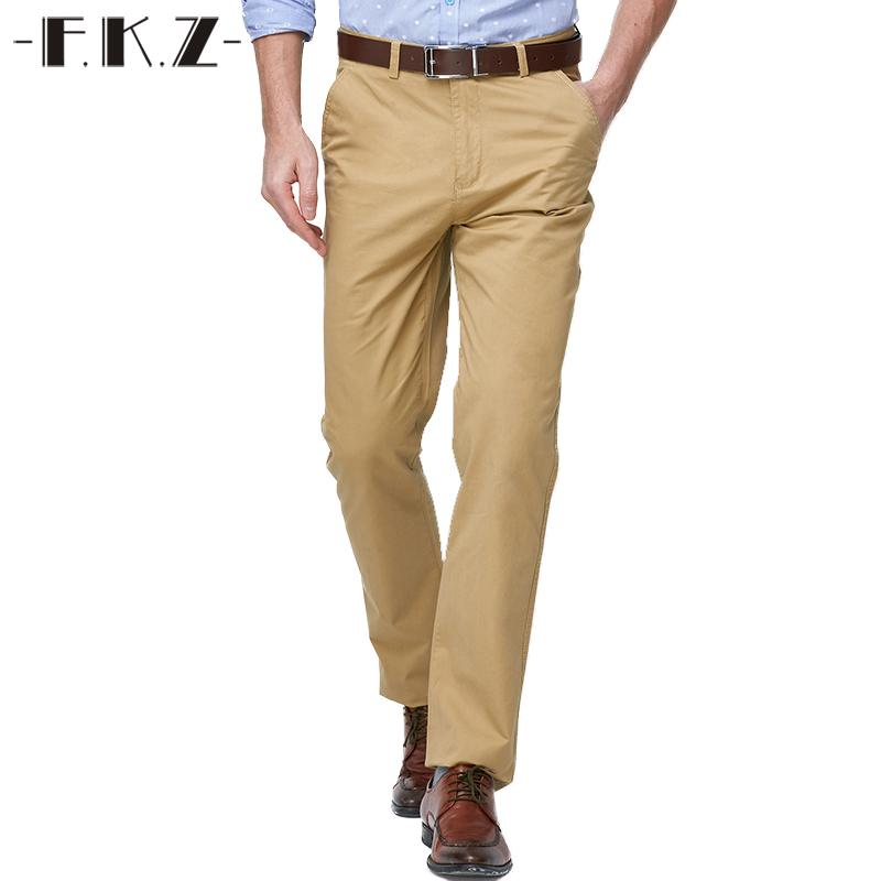 5dc18145d649 2019 Wholesale FKZ Fashion Khaki Long Pants Male Designer Brand ...