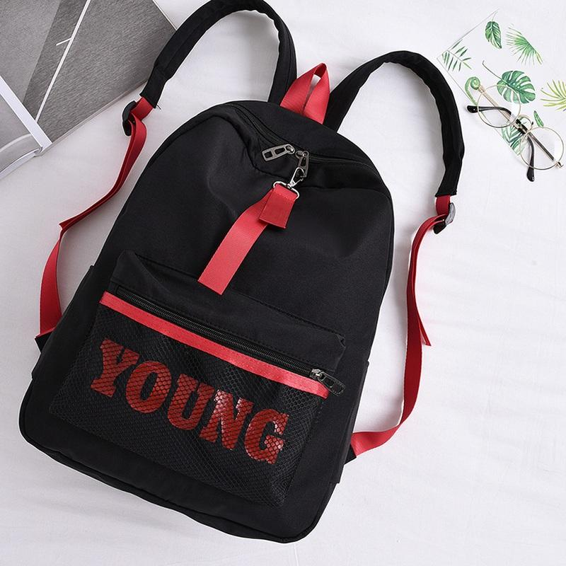 d011267b567c Fashion Women Letter Young Backpack Teenager Girls Nylon School Bag Female  Net Tide Mochila Escolar Waterproof Kanken Bookbag Messenger Bags For Women  Gym ...