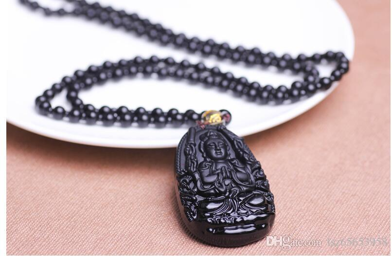 Obsidian dieses Gönner Leben für die acht Obsidian Mode Halskette Schmuck Anhänger Halskette A123