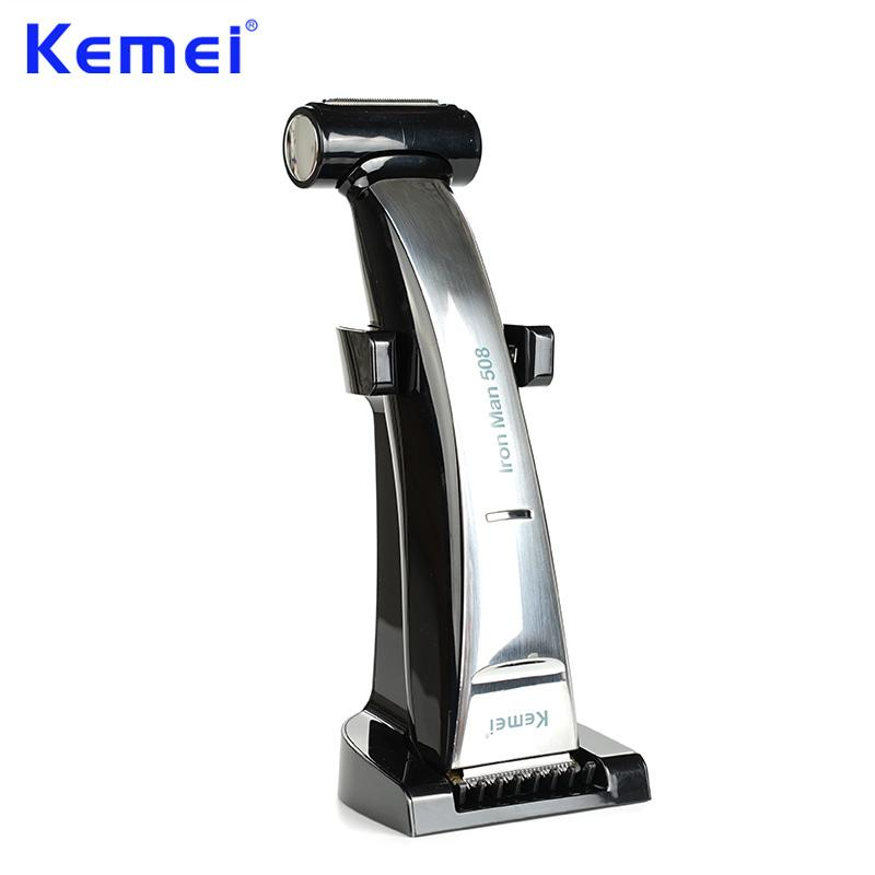 Kemei 2 In 1 Beard Trimmer Hair Clipper Waterproof Rechargeable Hair