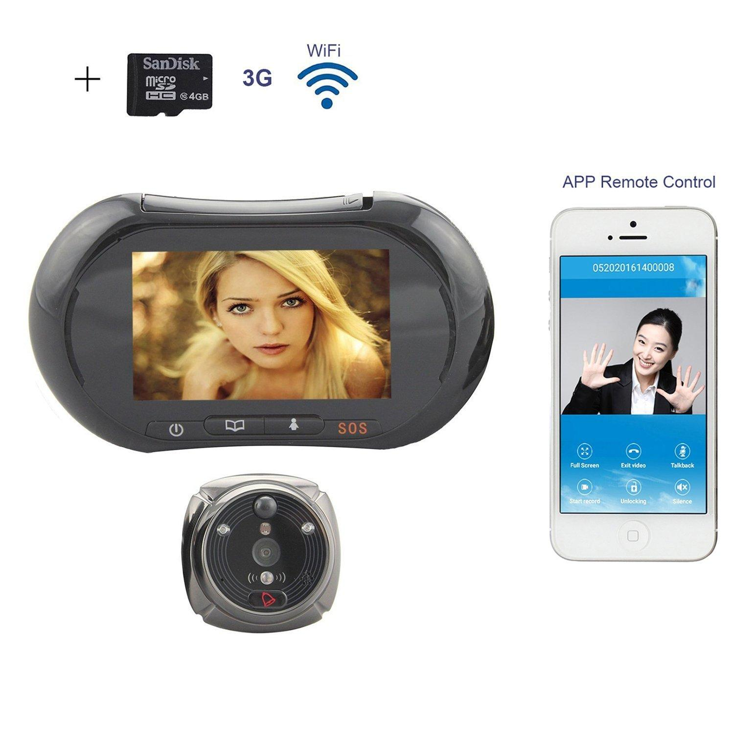 New 2016 Wifi Digital Peephole Door Viewer Willful 37 Lcd Touch