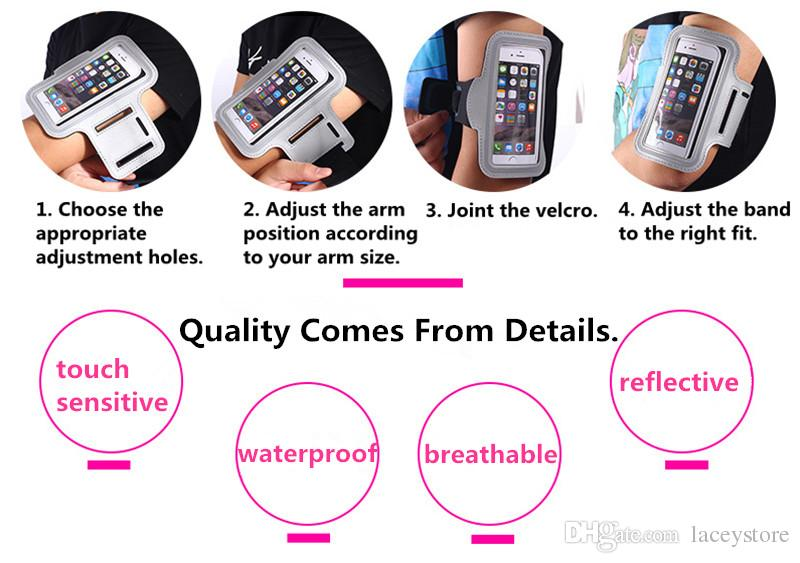 Light reflective sport armband arm belt case running phone bag cover for iPhone7 iPhone 7 6s 6 plus mobile phone case pouch holder
