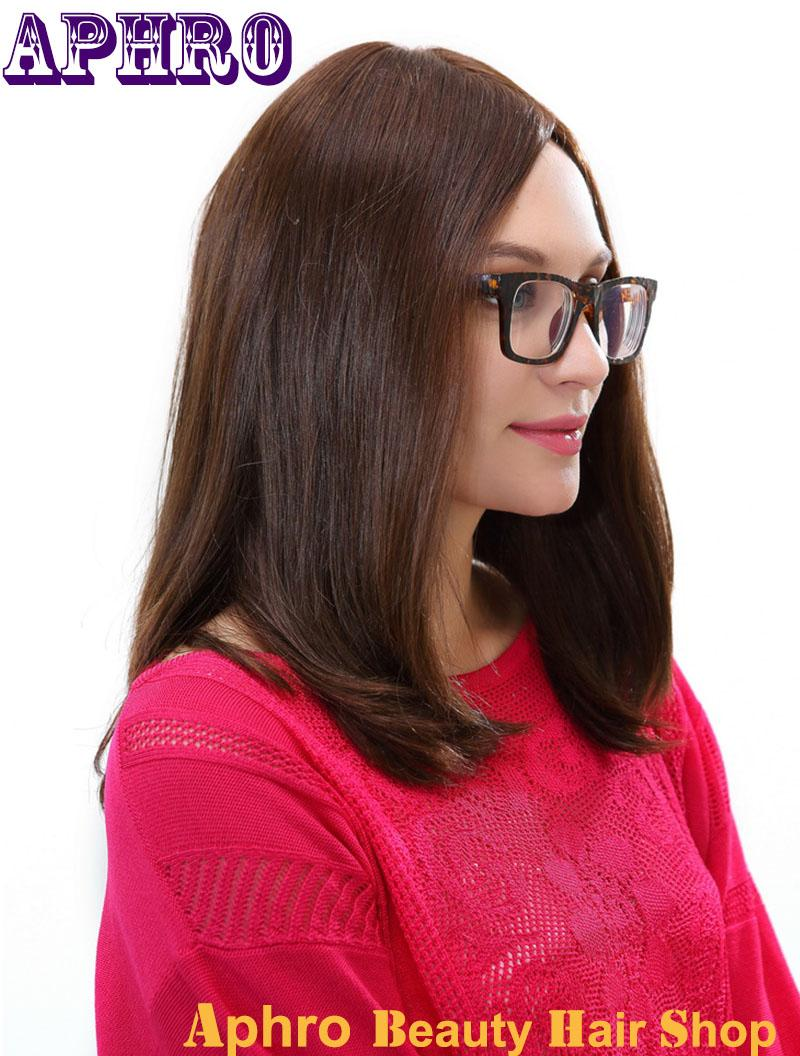 Premium Bob Haircut Dark Brown Brazilian Hair Silk Top Full Lace