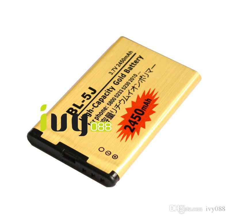 3 قطعة / الوحدة 2450 مللي أمبير BL-5J BL 5J الذهب استبدال البطارية ل نوكيا lumia 520 525 5800 5900XM 5228 5230 5232 5233 5235 5236 5238 5238 بطاريات