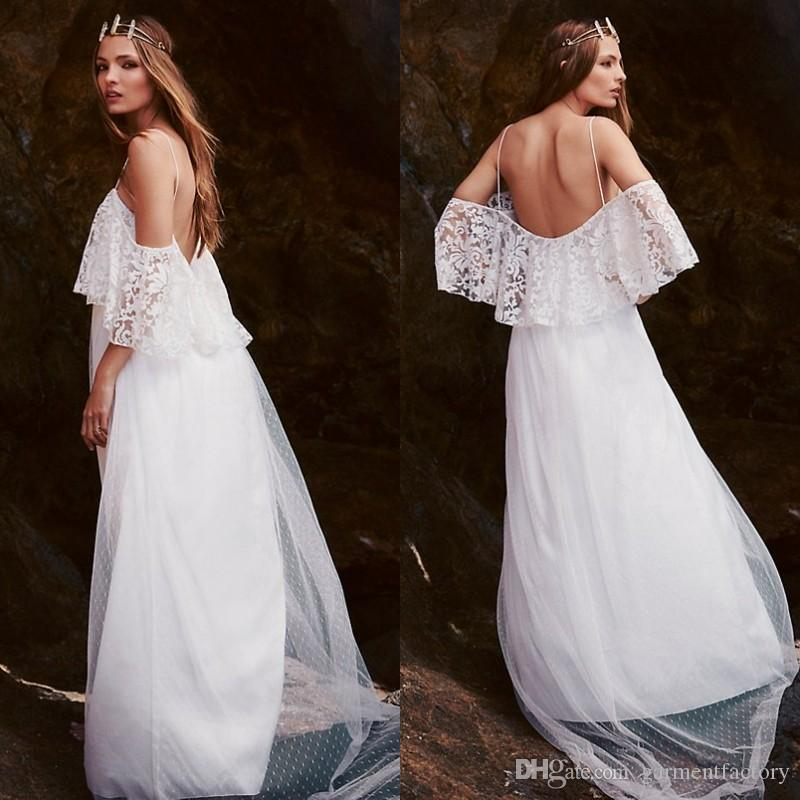 Discount Greek Goddess Bohemian Wedding Dress Off The Shoulder ...
