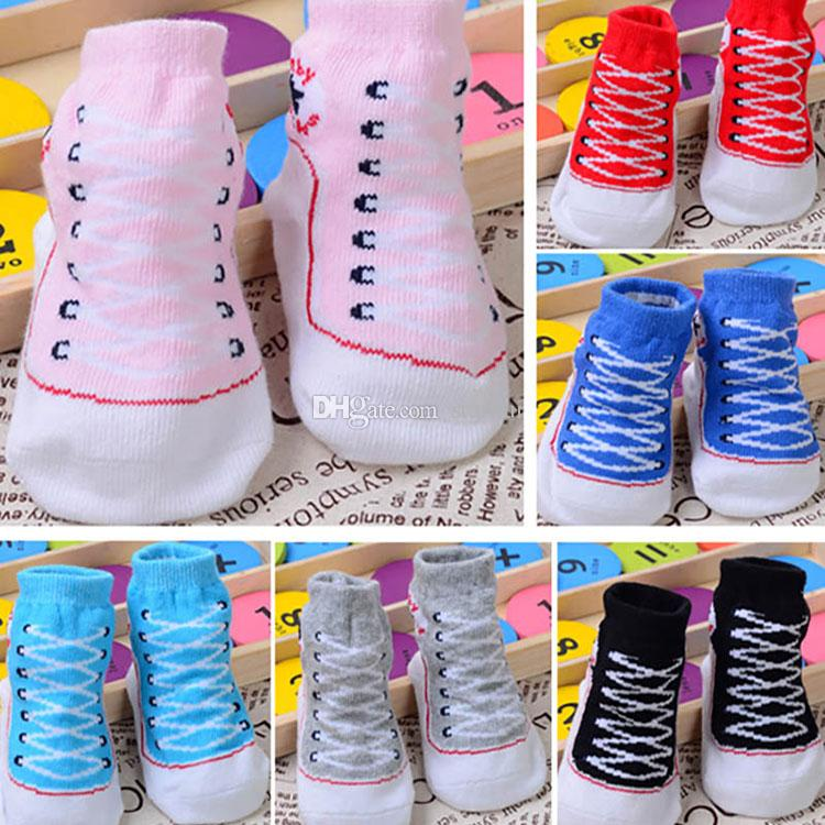 0-12 Mt Baby Jungen Mädchen Infant Kleinkind Weiche Sohle Krippe Schuhe Neugeborenen Schuhe Sommer Frühling Herbst Mid Tube Strumpf Socken WX-S26