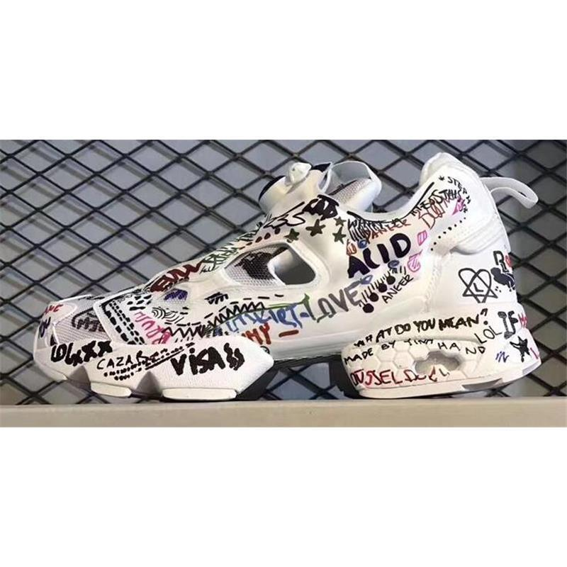 fe9376d9cace 2019 Hot Sale 2017 Release Boots Insta Pump Fury X Vetements Graffiti Shoes  Casual Shoes Running Shoes Original Quality Men Women Size US 5 10 From ...