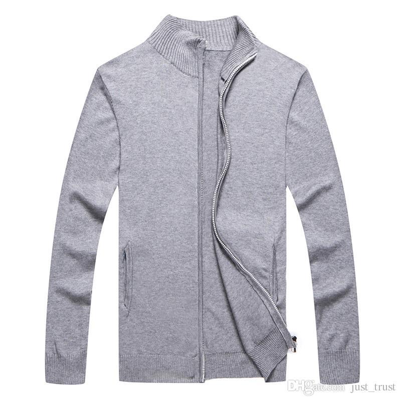 Nuevas ventas suéter Popular Golf Pony hombres suéter EE. UU. Bordado Caballo Casual algodón cremallera completa Sweater Por encargo Invierno Hombre Jumpers