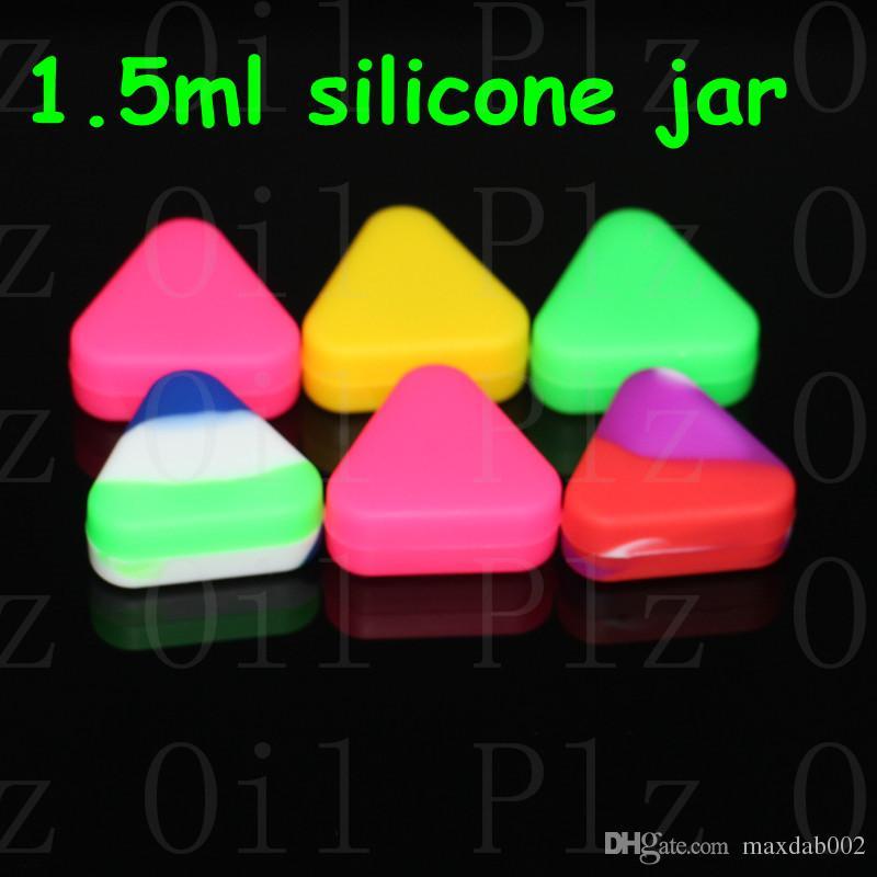 Triangolo Silicone Contenitore cera Silicone contenitore concentrato Contenitore in silicone BHO Contenitore antiaderente Cera olio vaso Dab liquido olio di cera