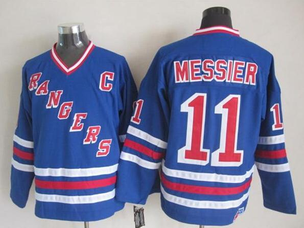 buy popular b043c 84add Rangers Throwback Jersey New Style Blue #11 Mark Messier Jersey Vintage  Hockey Jerseys Cheap Team Uniforms Embroidered Sports Jersey On Sale