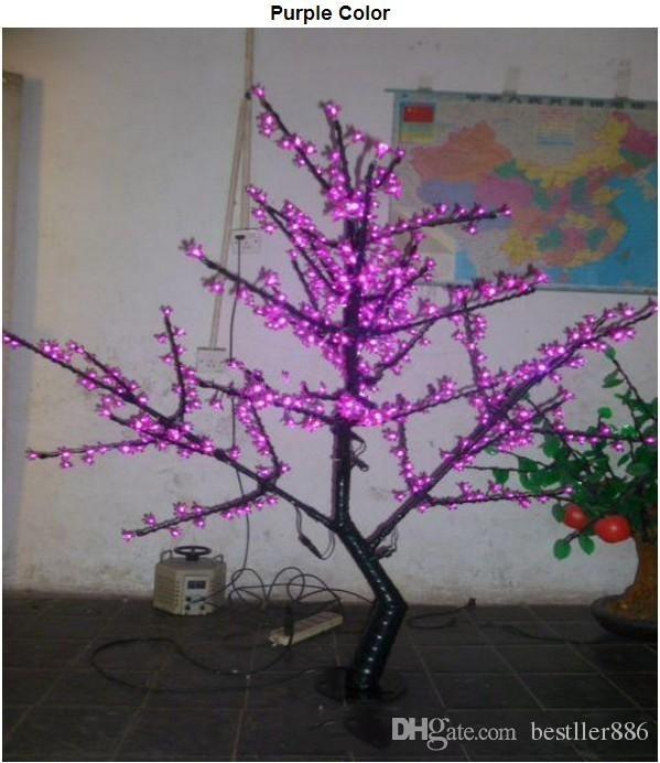 1.5m 5 Ft Height White LED Cherry Blossom Tree Outdoor /indoor Wedding Garden Holiday Light Decor 480 LEDs