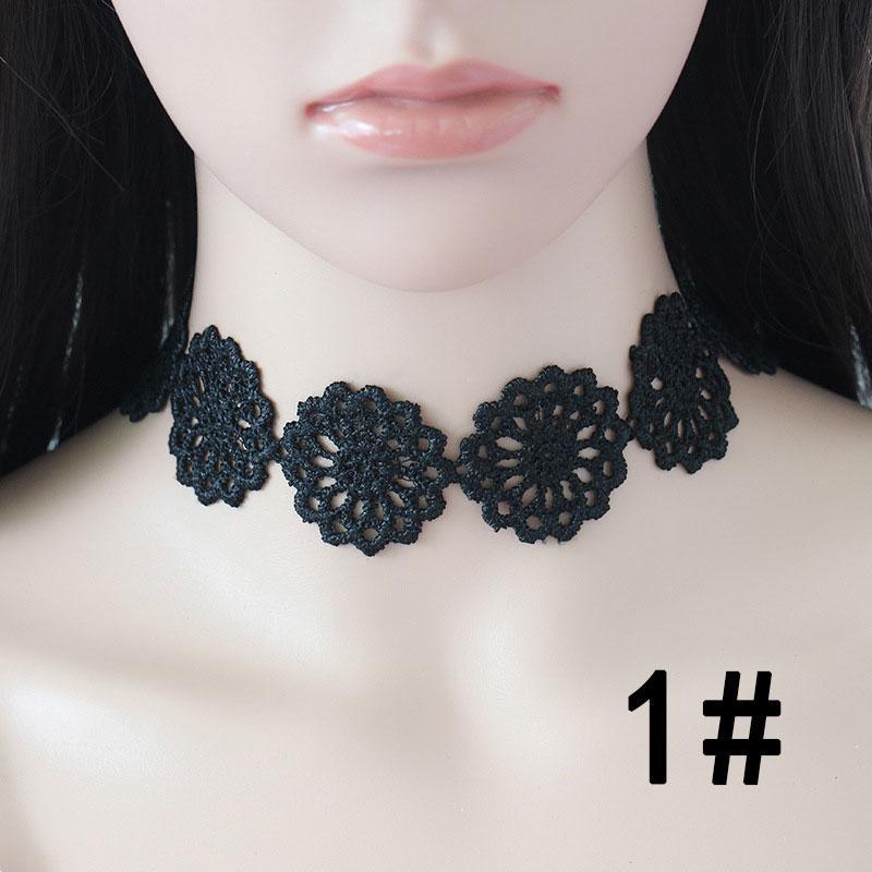 Collana girocollo in velluto nero da donna Collana girocollo in stile gotico fatto a mano con retro burlesque le donne 14 stile
