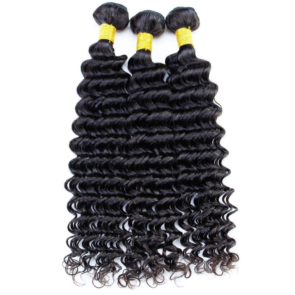Hair Extensions Deep Wave Brazilian Virgin Hair Bundles Malaysian