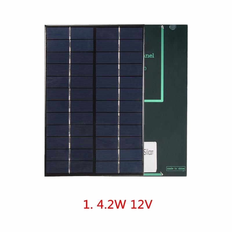 12V 4.2W Polycrystalline Solar Cell /Module Solar Panel For Charging 9V Battery System DIY Solar Charger 200*130*3MM 5pcs/lot Free Shipping