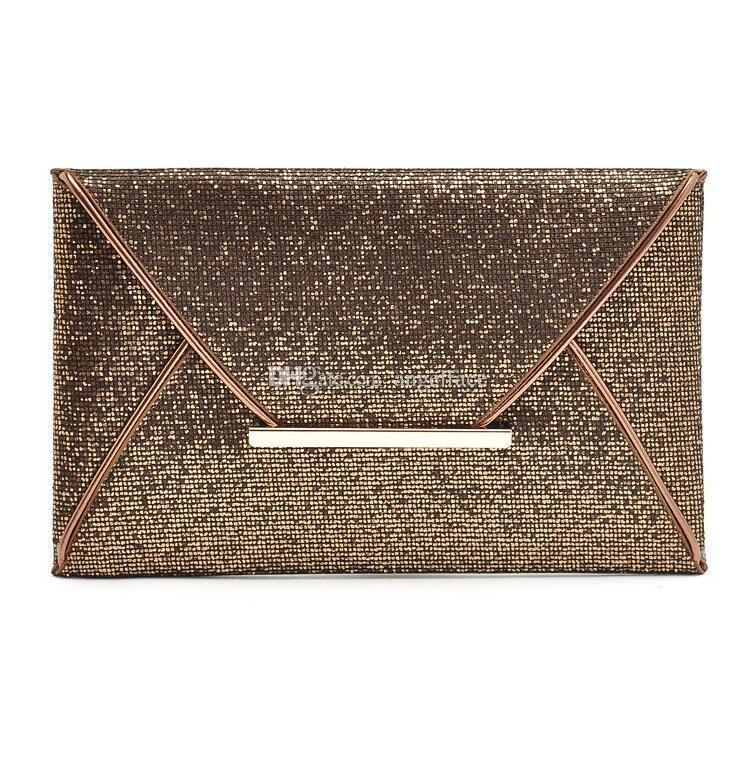c6b2b9f19 Compre Luxo Brilhante Sacos De Mão Grande Envelope Saco De Embreagem  Senhoras Glitter Sacos De Casamento Sacos De Noite Para As Mulheres Festa  Bolsa Preta ...