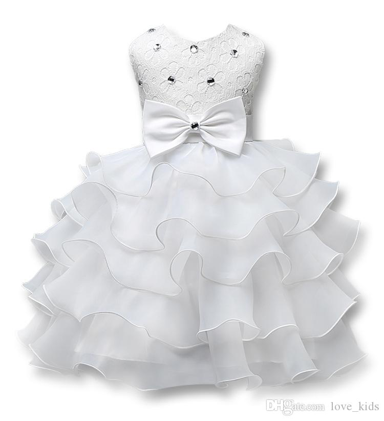 9 style summer girls party dress sleeveless tutu dresses kids gown baby prom dress with bow and diamond baby girl's lace dress 0-7T