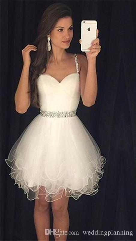 Organza Material Popular Homecoming Dresses School Wear Sexy Short Knee Legnth Party Dress With Crystal Beaded Stones Sash Homecoming Dress