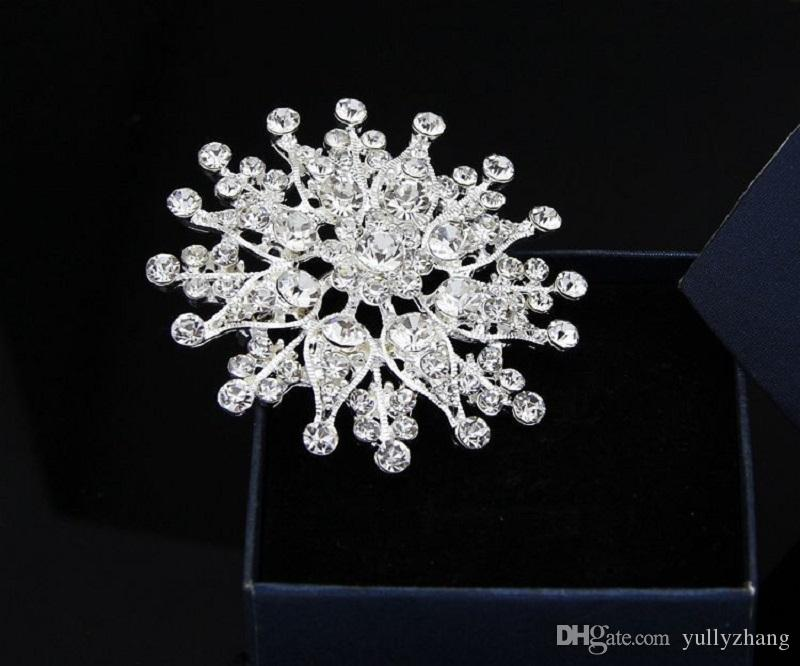 Jewelry Europe And The United States Jewelry Fashion Multicolor Big Flower Crystal Brooch For Women 2016 Wholesale Jewelry B030