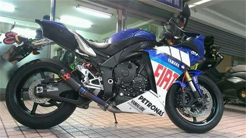 Yamaha R1 Modified Motorcycle Exhaust Flame Exhaust Pipe Burst Gp Street Scorpio Modification Of The Exhaust Side Of The Row
