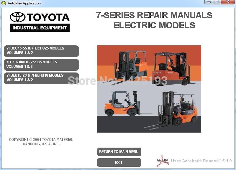 toyota forklift 7 series repair manuals automotive diagnostic rh dhgate com Forklift Battery Watering Systems Toyota Forklift Owner Manual