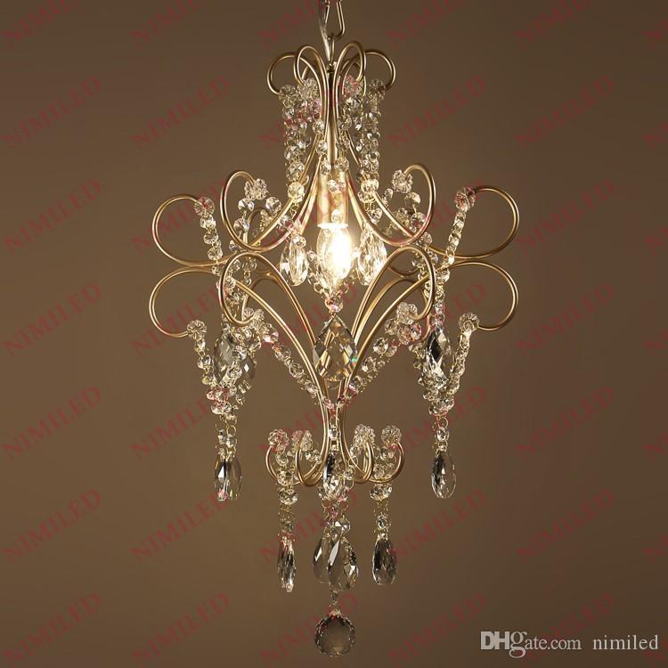 Nimi791 Dia 40 cm * H50 cm País de América Retro Araña de cristal Lámparas nórdicas Sala de estar Dormitorio Comedor Simple Hierro Luces colgantes Iluminación