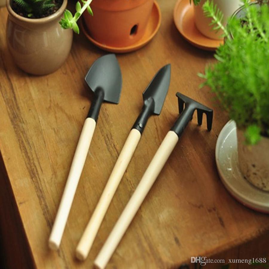 2018 Mini Garden Gardener Tools, Small Shovel Rake Spade, Mini Wood ...