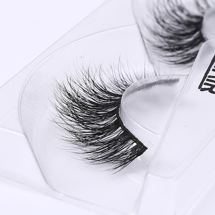 Hand made 100% Real Mink Natural 3D Mink False Eyelashes makeup Thick Full Strip Eye Lashes Women A10