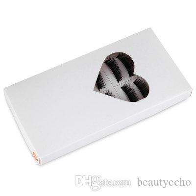 Top cílios postiços Fasion beleza 10 pares de Natural longo preto hastes grossas cílios postiços maquiagem cosméticos + B