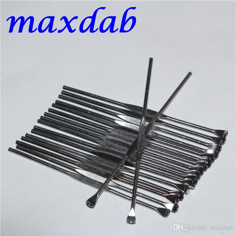 Wax Dabber Tools Wax Containers Clean Tools eGo Tool Stainless Steel Metal 85mm Dab Tool Jars Dab Wax Container Tools Dry Herb