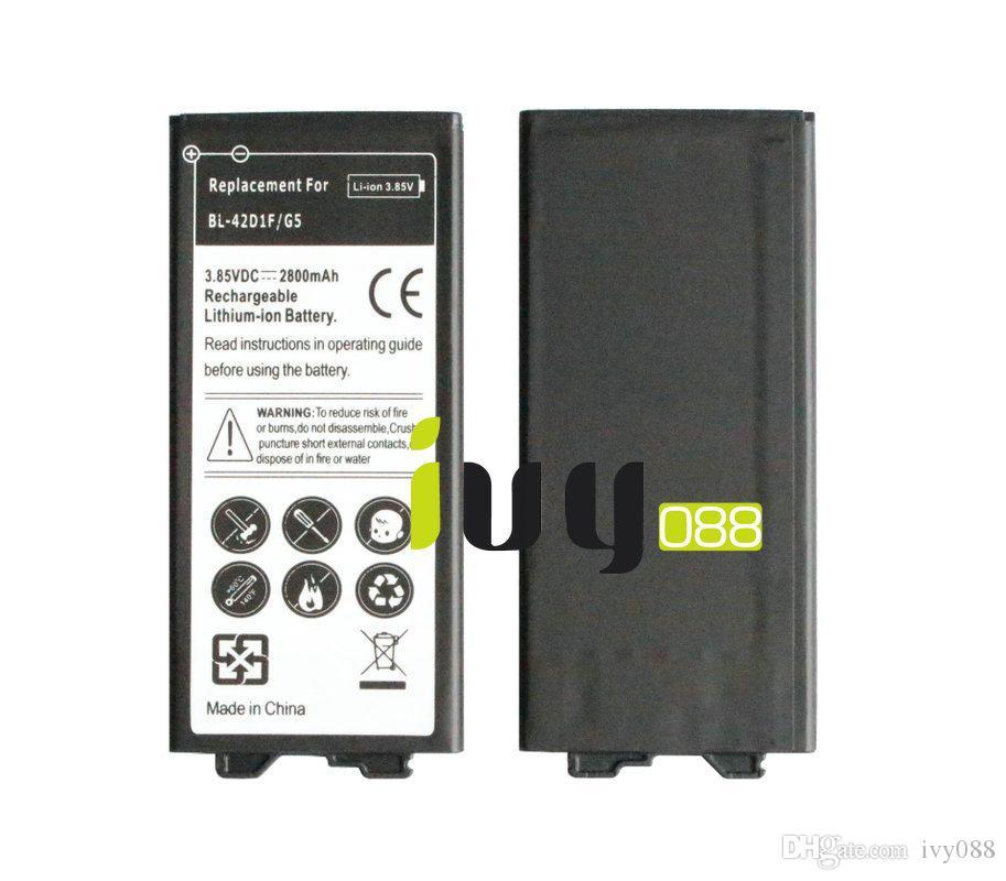/ 2800mAh 3,85 VDC BL-42D1F Nouveau remplacement rechargeable au lithium-ion pour LG G5 Batteries Batteria Batterij Batterie