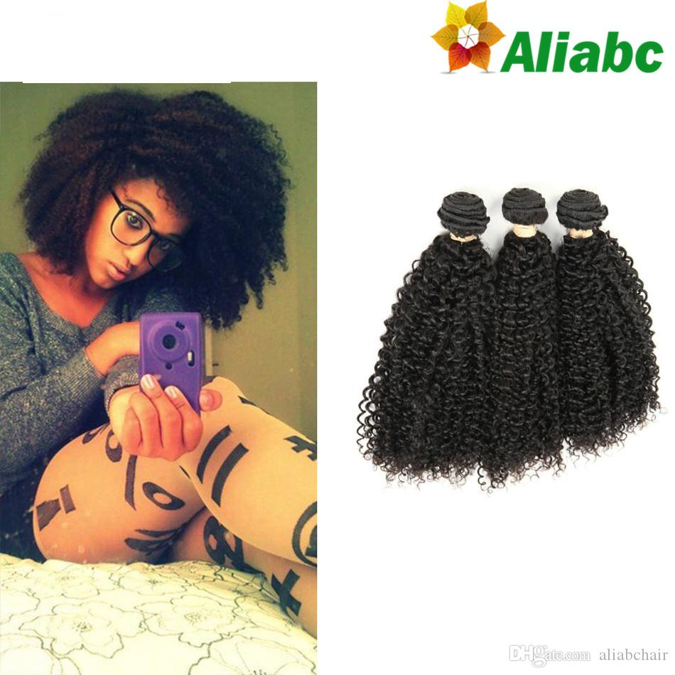 Aliabc Products Kinky Curly Human Hair Extensions 3 Bundle Deals
