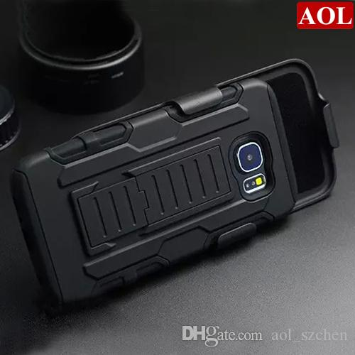 free shipping 57bc2 54ce0 For Samsung Galaxy S6 G9200 S6 edge /plus Future Armor Impact Hybrid Hard  Case Belt Clip Holster Kickstand Combo Rugged Shockproof