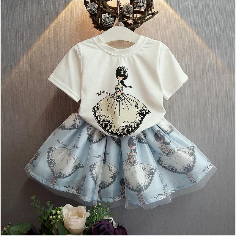 ccd9799ea Wholesale And Retail 2016 Summer Set Dancing Girl Pattern Princess ...