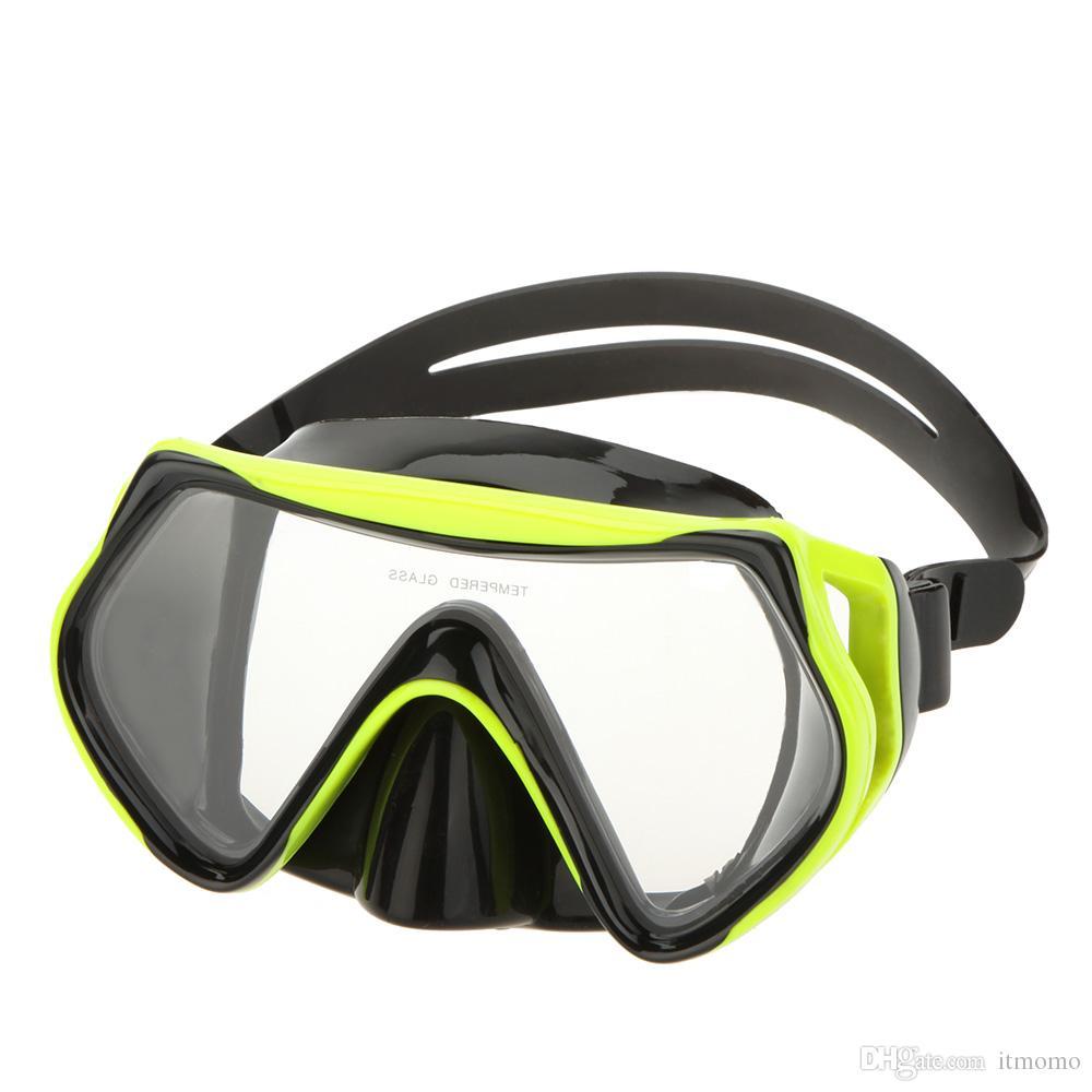 7bc54bd0c Compre Equipamento De Máscara De Mergulho Anti Nevoeiro Óculos De Máscara  De Natação Ajustável Óculos Adulto Máscara De Itmomo