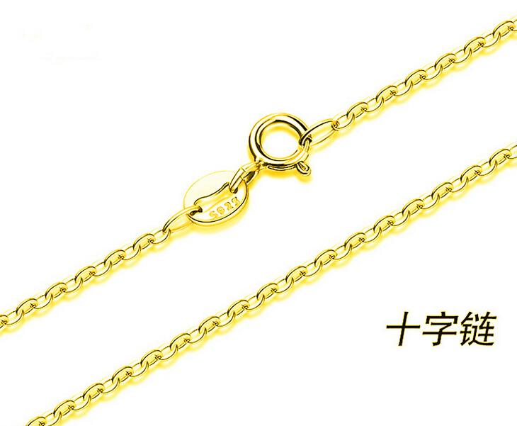15/17 inches Cross link fine chain 18k gold plated necklace fashion personality sautoir Mrs/woman/girls gold necklace 10pcs/lot