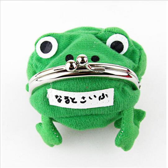 Originality Fashion Frog Wallet Anime Cartoon Wallet Coin Purse Manga Flannel Wallet Cheap Cute Purse Naruto Coin Holder