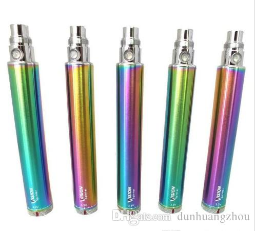 Vision Spinner cigarrillo electrónico 3.3-4.8V batería 650900 1100 1300mAh e cigs ego atomizador DHL