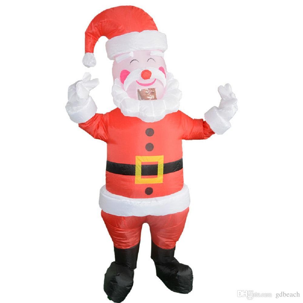 Costume Babbo Natale.Acquista Costume Babbo Natale Gonfiabile Di Babbo Natale Costume