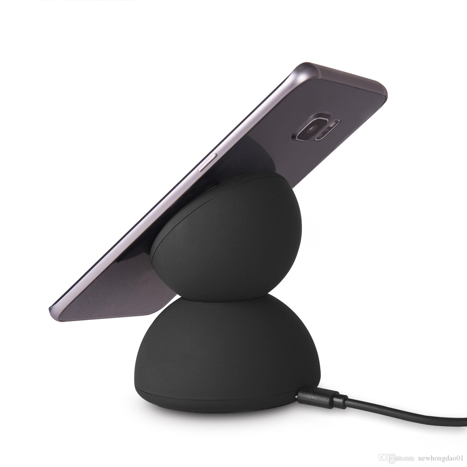 Fast Charge Wireless Charger Anti-Slip Rubber Wireless Charging Pad for iphone 8 X 8 PLUS Galaxy S8 S7 S6 Edge Plus Note 8