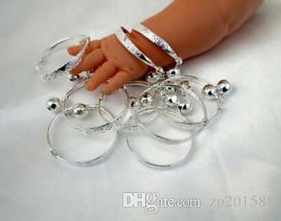 New Vintage Silver Baby Kid Bell Bracelet Good Luck Charms Bangles For child Fashion Jewelry Accessories DIY Gifts S280