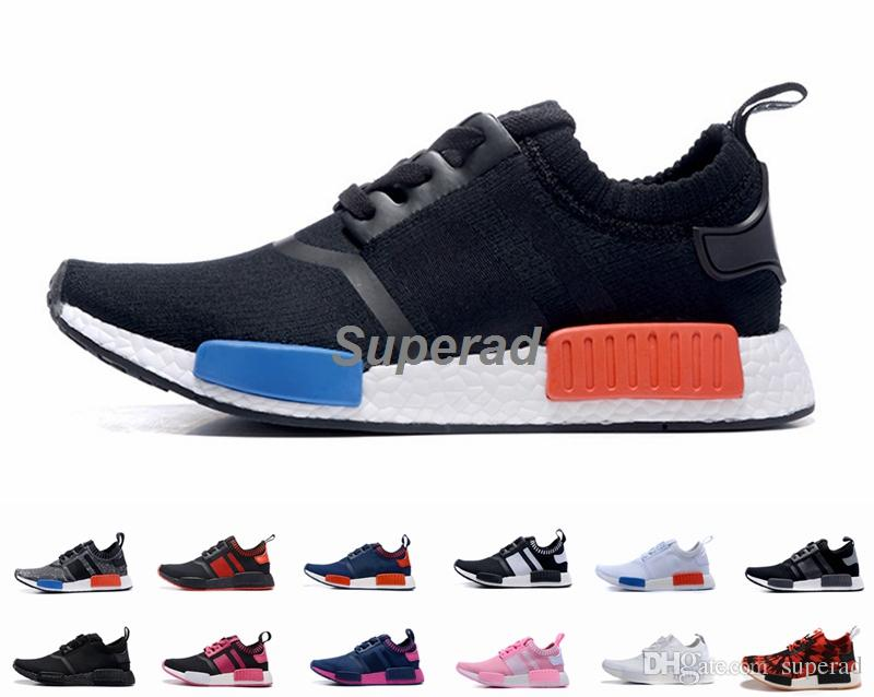 2016 NMD Runner R1 Primeknit OG Black Triple White Nice Kicks Circa Knit  Men Women Running Shoes Sneakers Originals Classic Casual Shoes NMD Runner  Running ...