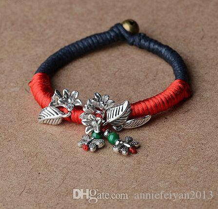 Förderung-Art- und Weinlese-ethnische Art Wrapped Draht Dekoration Armbänder nationaler Art gesponnene Charme-Armbänder Ethnischer Schmuck