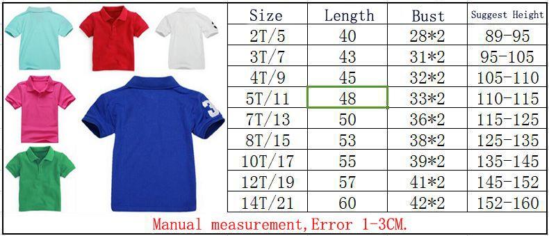 2019 Mode Enfants Polo T-shirt Enfant Revers Manches Courtes T-shirt Pour Garçons Hauts Vêtements Marques Unicolore Tees Filles Coton Classique T-shirts