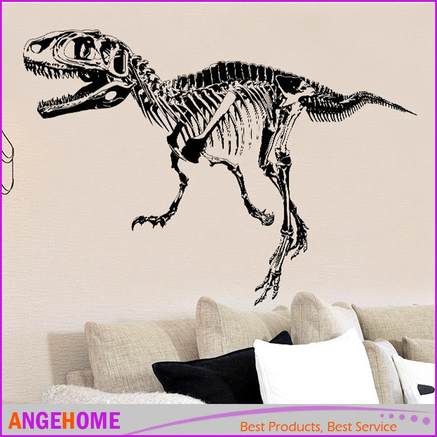 T Rex Skeleton Dinosaurs Wall Art Sticker Wall Decal Stick Diy Home  Decoration Wall Mural Removable Sticker Tyrannosaurus Rex Wall Graphic  Decals Wall ...