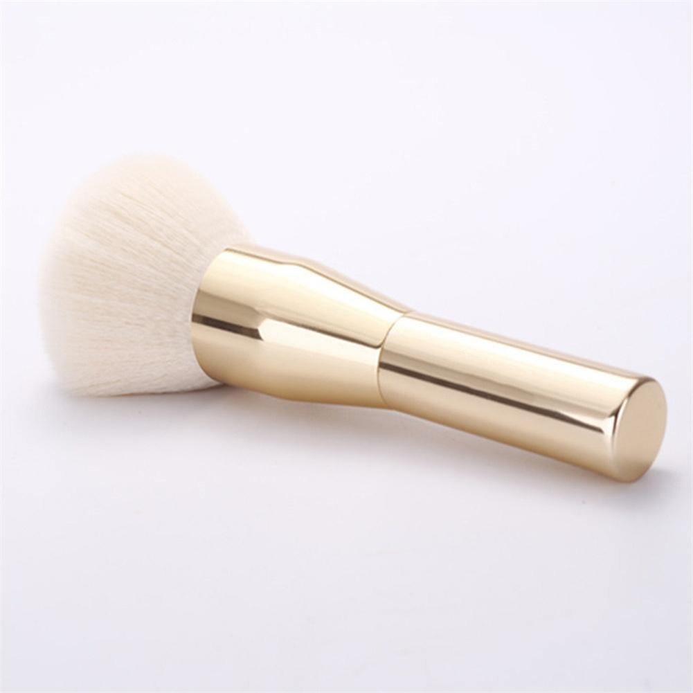 Polvo grande y suave Bursh Gold Face Powder Blush Brocha para maquillaje Bronzer Brush Color: Gold