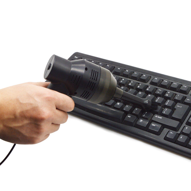 Ordinateur de poche Mini USB fort aspirateur de poussière aspirateur aspirateur brosse outil de nettoyage de poussière avec brosse pour clavier ordinateur portable table voiture animal de compagnie